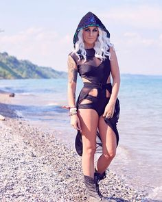a8787d5051b Instagram   kosmickatie SLAYING in this shoot. Sequin hood from Freedom  Rave Wear Edm