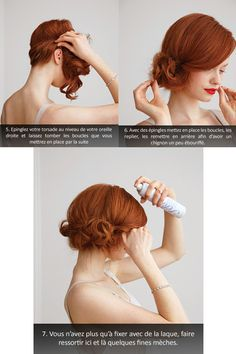 Coiffure a faire sur cheveux mi long Vintage Hairstyles For Long Hair, Sleek Hairstyles, Hairstyles For Round Faces, Short Hairstyles For Women, Wedding Hairstyles, Pelo Vintage, Vintage Updo, Wedding Vintage, Androgynous Haircut