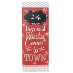 "The Jolly Christmas Shop - 15"" Days Til Santa Comes To Town Wooden Christmas Countdown Chalkboard 2225650, $12.99 (http://www.thejollychristmasshop.com/15-days-til-santa-comes-to-town-wooden-christmas-countdown-chalkboard-2225650/?page_context=category"