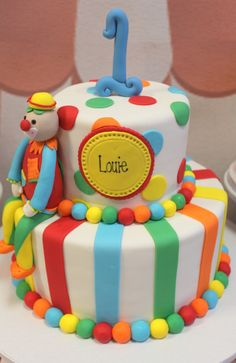 Awesome cake at a Circus birthday party! See more party ideas at CatchMyParty.com!