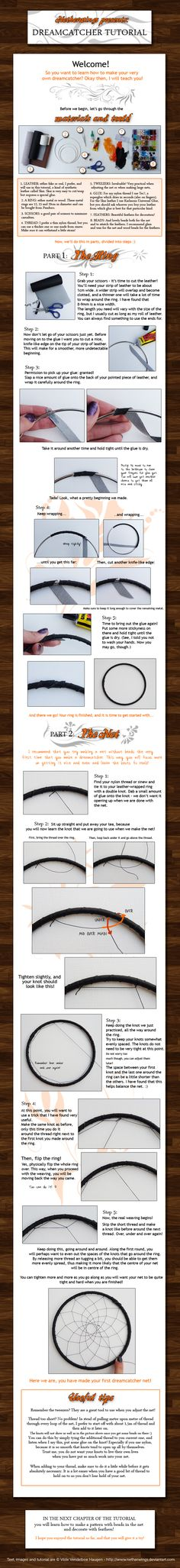 Dreamcatcher tutorial: Ch. 1 by netherwings.deviantart.com on @deviantART