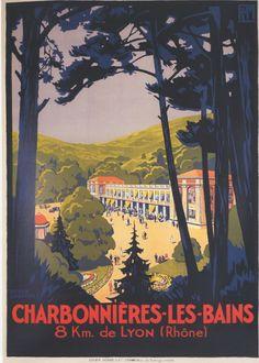 PLM - Charbonnières-les-Bains - Lyon - Rhône - illustration de Roger Broders