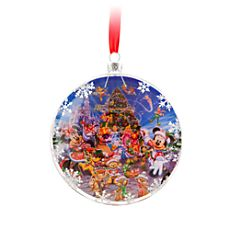 Santa Mickey Mouse and Friends Window Storybook Ornament - Walt Disney World