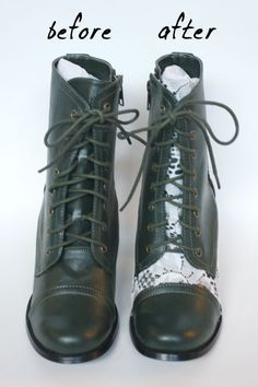 DIY Lace-Covered Boots Dari pats- zābaki ar mežģīnēm