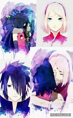 Uchiha Family  Sakura, Sarada and Sasuke  Such a beautiful fanart of this emotional moments ❤️❤️❤️