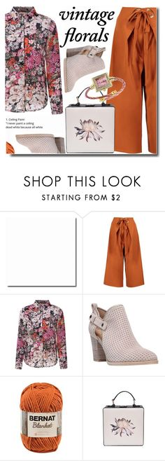 """""""Vintage blouse"""" by soks ❤ liked on Polyvore featuring Boohoo, Franco Sarto and vintage"""