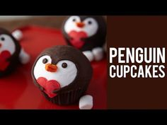 How to make Valentine's Penguin Cupcakes - YouTube