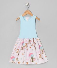 Take a look at this Light Blue & Pink Little Critters Dress - Infant, Toddler & Girls by Alejandra Kearl Designs on #zulily today!