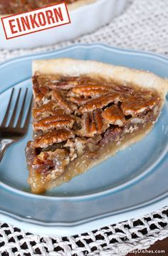 Einkorn pecan pie tart recipe