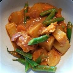 Chicken Navratan Curry (Indian) - To make low carb replace potatoes with cauliflower - (turmeric recipe) - metabolism booster