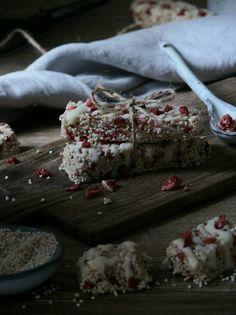 Jahodovo-amarantové tyčinky - My Sweet Fairytale Fairytale, Food Photography, About Me Blog, Gluten Free, Ice Cream, Chocolate, Spring, Sweet, Desserts