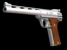 AM 44 AUTO MAG  The automatic pistol which uses the worldwide first magnum bullet , 1969