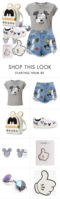 """""""MICKEY MOUSE"""" by petrescudenisa on Polyvore featuring Miss Selfridge, MOA Master of Arts, Disney and Anya Hindmarch"""