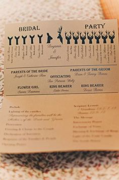A Winter wedding in Watertown, New York - Adorable ceremony program