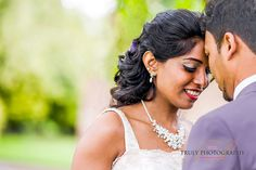 Portrait from a London Wedding by Truly Photography. Beautiful bridal jewellery.
