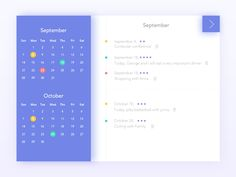 Calendar design designed by luking. Connect with them on Dribbble; Calendar Ui, Calendar Layout, Calendar Design, Web Design Tips, Page Design, Layout Design, Web Layout, Design Process, Design Design
