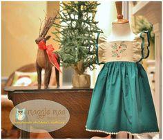 Long Sleeve Dress Pattern Girls Dress Pattern by littlelizardking