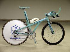 "Bianchi Crono titanium TT bike from the 1996 TdF, often called the ""Berzin"" bike after the high-profile Russian rider Evgeni Berzin"