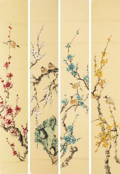 Chinese plum blossom paintings