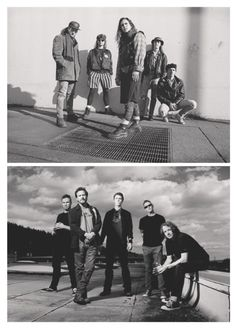 "Pearl Jam - then & now.  I used to have the ""then"" picture hanging in my locker!"