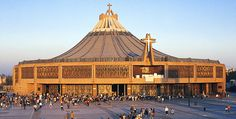 La Basilica de Guadalupe, Mexico City, Mexico. The Basilica of Our Lady of Guadalupe, a transforming place.