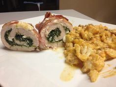 Bacon Wrapped Chicken Stuffed with Mozarella and Spinach #r/keto