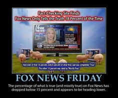 Fox less than 8% of stories completely true - yet some believe it's the only truth! Crazy!