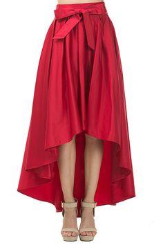 Sapphire Satin High Low Skirt