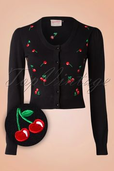 Banned Black Red Drive Me Crazy Cherry Cardigan 140 14 16351 20151014 018WV