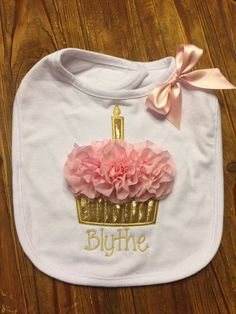 1st Birthday Personalized Bib  First Birthday by FunkyJunkyPeacock