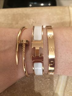 stacking bracelets watches etc. - Page 606 - PurseForum stacking bracelets watches etc. Page 606 PurseForum stacking bracelets watches etc. Page 606 PurseForum Hermes Armband, Hermes Bracelet, Cartier Bracelet, Diamond Bracelets, Love Bracelets, Bracelet Watch, Stacking Bracelets, Beaded Bracelets, Cartier Jewelry