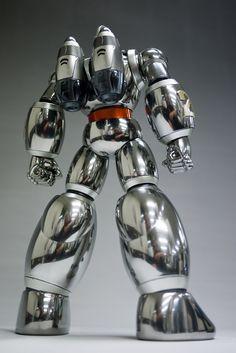Tetsujin 28 - Scratch Build Modeled by Dandy Bird Vintage Robots, Retro Robot, Arte Robot, Robot Art, Big Robots, Japanese Robot, Robots Characters, Aliens And Ufos, Mecha Anime