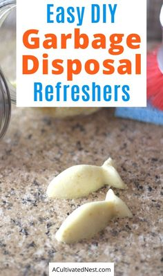 DIY Garbage Disposal Cleaner- Keep your garbage disposal clean and smelling fresh with these easy homemade garbage disposal refreshers! | #DIY #homemadeCleaningProducts #cleaning #DIYCleaning #ACultivatedNest Homemade Cleaning Products, Household Cleaning Tips, Cleaning Recipes, Cleaning Hacks, Household Cleaners, Hacks Diy, Cleaning Supplies, Diy Cleaners, Cleaners Homemade