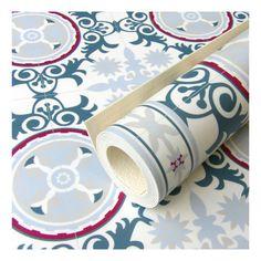 Alfombra vinilo impreso para cocina Azul 3 tamaños