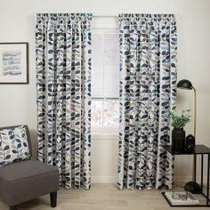 Matakana Ocean - Readymade Thermal Pencil Pleat Curtain - Curtain Studio buy curtains online Buy Curtains Online, Pleated Curtains, Pencil Pleat, Blinds, Ocean, Studio, Home Decor, Ruffle Curtains, Decoration Home