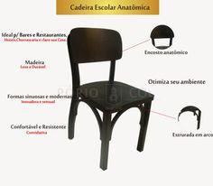 Empório Country Móveis: Cadeira para Bar Escolar .Ideal para Bares,Restaur...