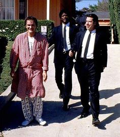 """On the set of""""Pulp Fiction""""(1994)"""