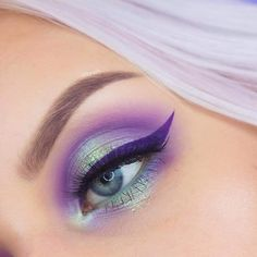 21 Pink and Purple Eye Makeup Looks > CherryCherryBeaut. - 21 Pink and Purple Eye Makeup Looks > CherryCherryBeaut. Purple Eye Makeup, Eye Makeup Art, Eye Makeup Tips, Colorful Eye Makeup, Cute Makeup, Eyeshadow Makeup, Hair Makeup, Makeup Ideas, Purple Eyeliner