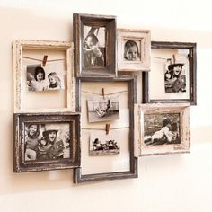 DIY Easy Farmhouse Style Frame Ideas Easy Farmhouse Style Frame Ideas 40 Frames are decorative accessories that surround the moments you immortalize. Picture Frame Inspiration, Unique Picture Frames, Picture Frame Crafts, Collage Picture Frames, Frames On Wall, Picture Wall, Photo Frame Ideas, Decorating With Picture Frames, Vintage Photo Frames