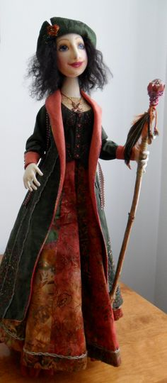 My doll from The Traveler class with Angela Jarecki on Dollstreet
