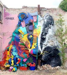 Les Brèves (Page 22) - Tendances de Mode Waste Art, Bee Free, Trash Art, Mural Art, Badger, Graffiti Art, Art World, Art Day, Sculpture Art