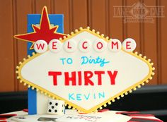Handmade vegas sign for a vegas lover's 30th Birthday (on his wedding day) How Fun! All fondant, by Lake Union Cafe & Custom Bakery