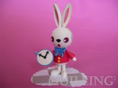 Quilled 3D Rabbit Alice in Wonderland