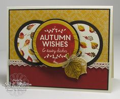 Stampin' Up!'s Among the Branches and Vintage Leaves with coordinating Leaflet Framelits.  Autumn/Fall card created by Lori Mueller at www.stampindreams.com