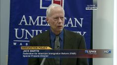 FAIR's Jack Martin discusses immigration reform on C-SPAN.