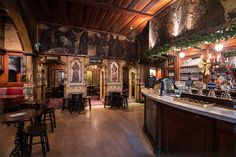 The interior of the stunning Nicholsons's-owned Blackfriar pub in the City of London