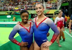 Simone Biles and Aly Raisman won the gold and silver, respectively, on the floor exercise at the 2016 Rio Olympic Games!