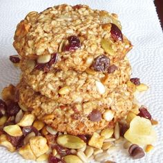 Trail Mix Cookies (dairy, gluten and egg free)