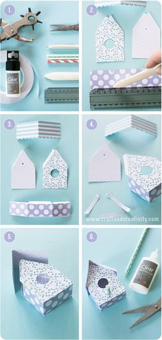DIY Paper Birdhouse Tutorial with FREE Template