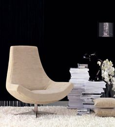 Contemporary armchair / swivel - ISOLA - Doimo Salotti